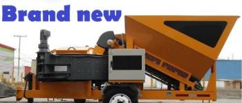 NEW - Plant Concrete Machine With Pan Mixer